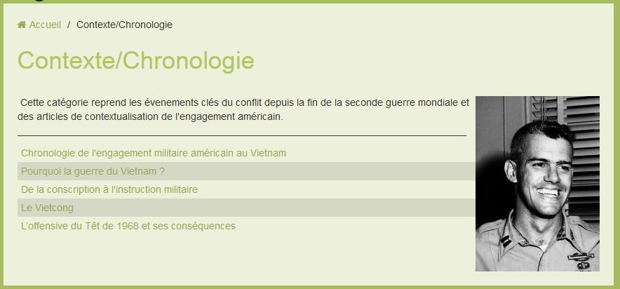 CONTEXTE/CHRONOLOGIE