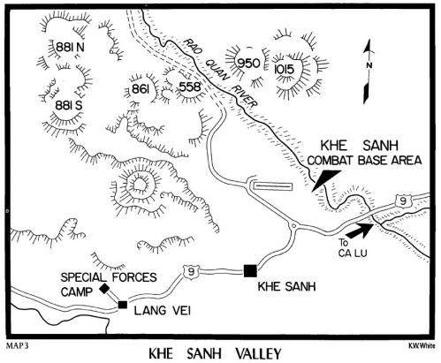 Map khe sanh valley