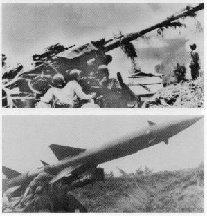 North vietnamese antiaircraft weapons
