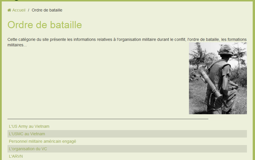 ORDRE DE BATAILLE