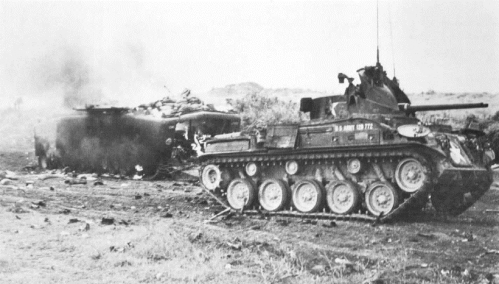 Prairie amphibian tractor hit by nva mortars 8 may night in gio linh