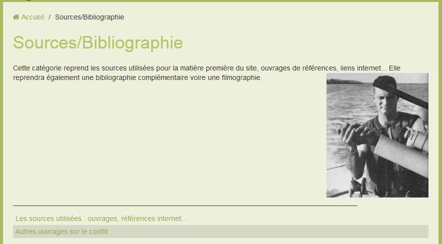 SOURCES/BIBLIOGRAPHIE