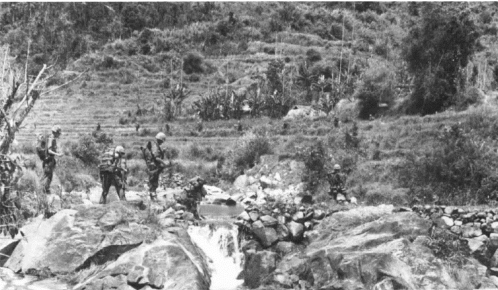 Union ii 2 marines battalions searching mountains along que son basin